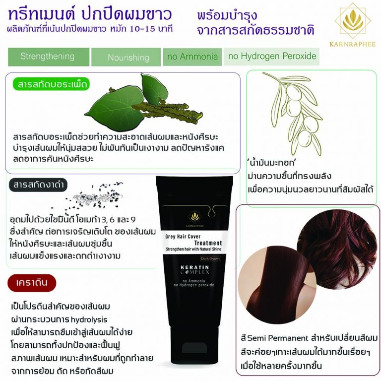 Grey Hair Cover Treatment Color-filled formula