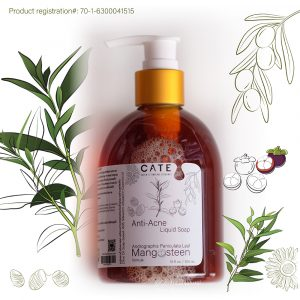 Anti-Acne Liquid Soap for brightening, reduce wrinkles and pores
